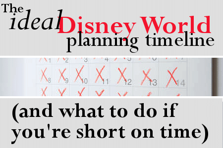 The ideal Disney World planning timeline (and what to do if you are short on time)