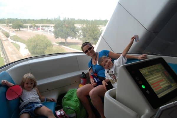 Riding front of monorail