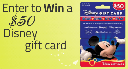 New FB page, win $50 Disney gift card!