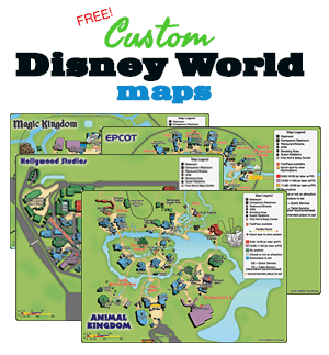 Free, downloadable custom Disney World maps   PDF, JPG formats + QR codes
