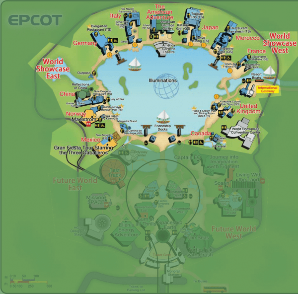 Guide to all EPCOT attractions from @WDWPrepSchool