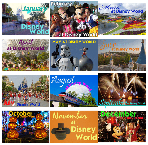 Monthly Dashboards for Disney World | Disney World Crowd calendars to help you plan your next Disney World trip