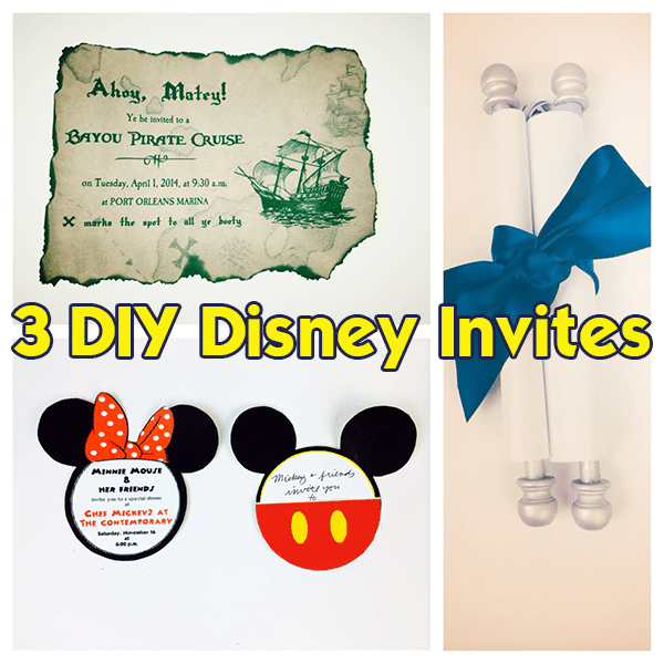 3 DIY invitations to use during your Disney World trip from @WDWPrepSchool
