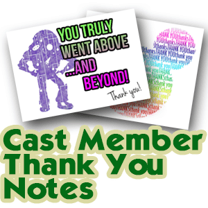 Cast Member Thank You Notes