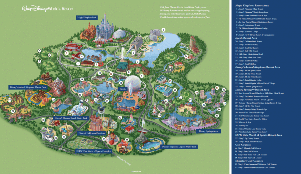 Disney World maps Disney World resort map