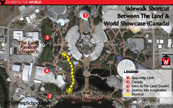 Shortcut paths at Disney World