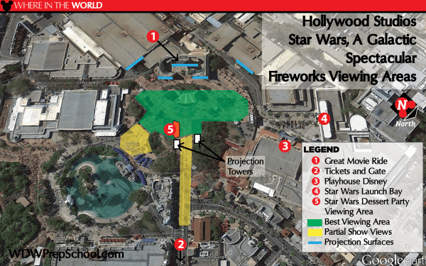 Star Wars A Galactic Spectacular viewing areas