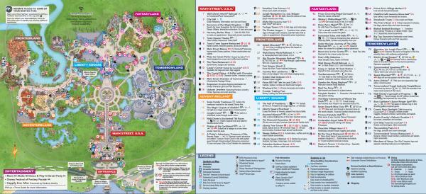 Magic Kingdom map