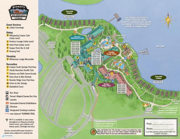 Wilderness Lodge Map