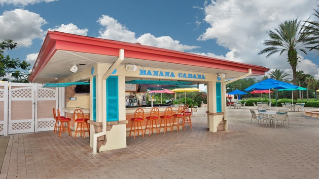 Caribbean Beach Resort - Banana Cabana Pool Bar – CLOSED during refurbishment