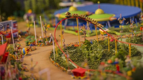 Toy Story Land model now on display