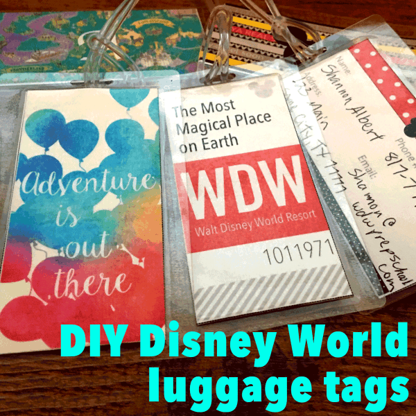 Disney World luggage tags