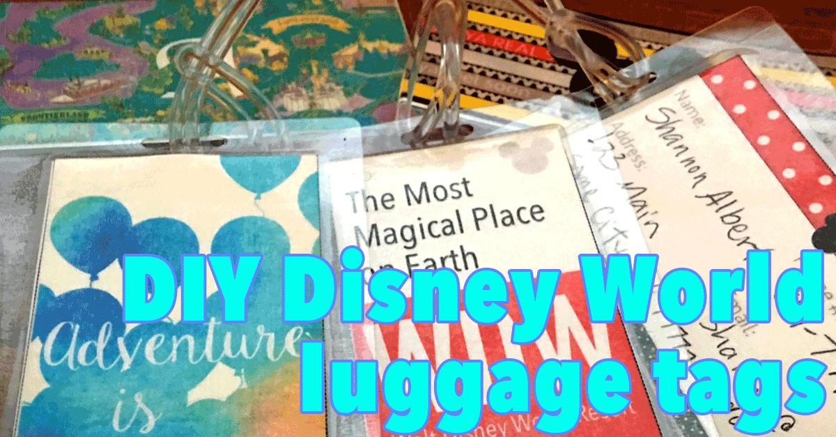 printable disney world luggage tags