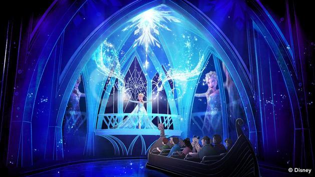 Anna and Elsa at Disney World