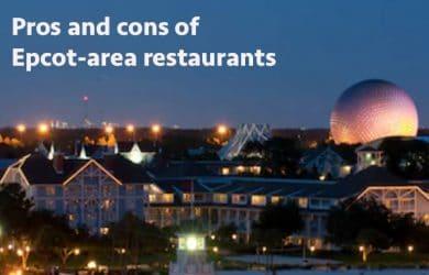 Epcot area restaurants