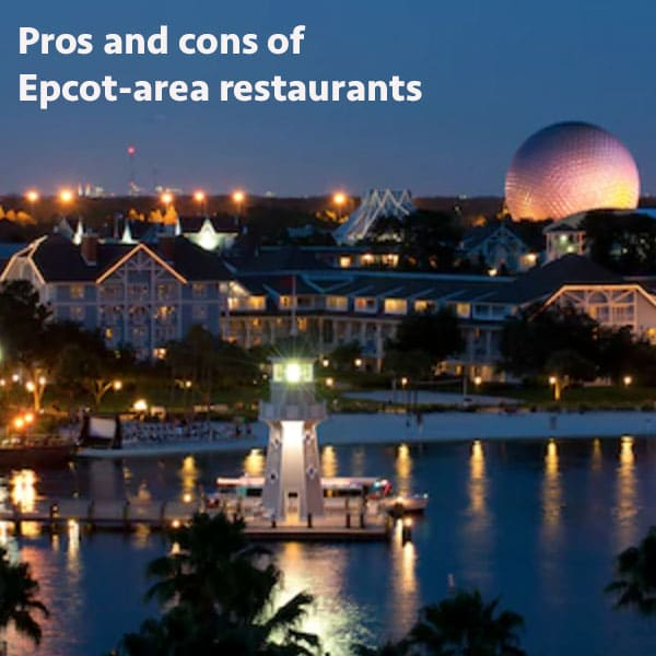 Epcot area dining