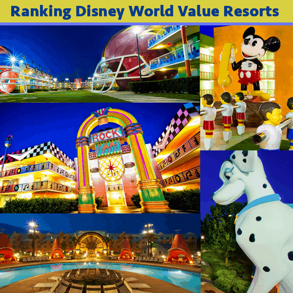 Disney Info Sites: Ranking Disney World Value Resorts - PREP122