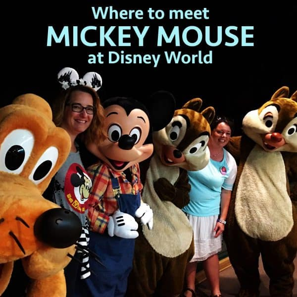 Where to meet Mickey Mouse at Disney World