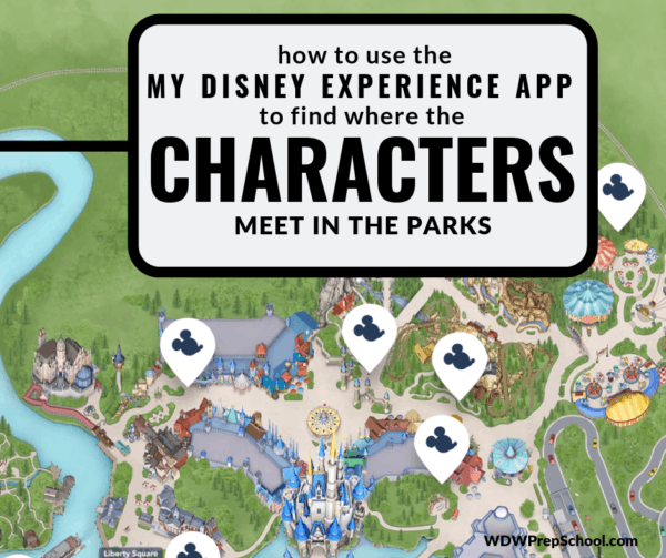 My Disney Experience App - how to find the characters