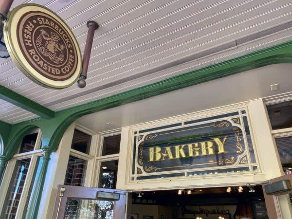 Starbucks Main Street Bakery signs
