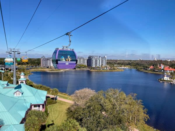 Skyliner with views of Riviera and Caribbean Beach