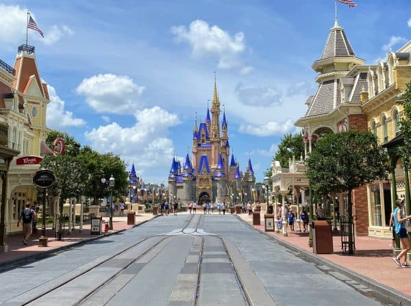 Main Street USA with castle