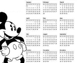 mickeybandwcalendar - Step 1: Pick a Date