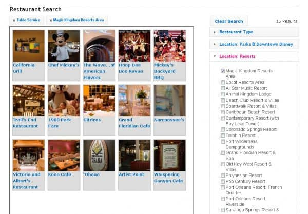 restaurantsearch 600x417 - Step 4: Pick dining options