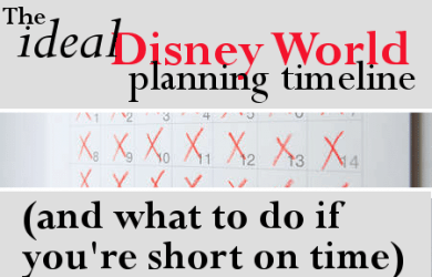 headerdisneytimeline 390x250 - The ideal Disney World planning timeline (and what to do if you are short on time)