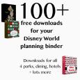 bindersquare 115x115 - Disney World binder builder - 100+ free downloads