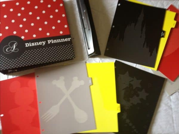 Disney binder planning workskeet