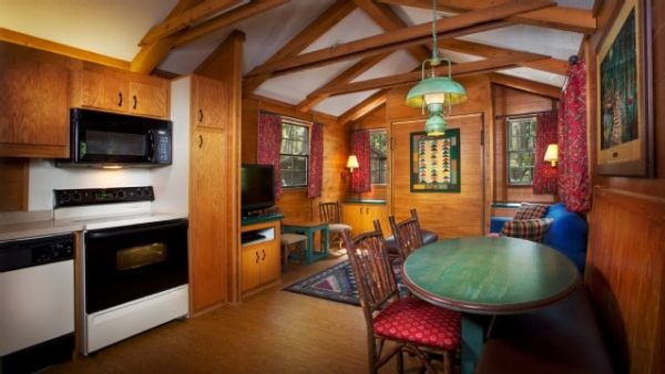 Fort Wilderness wilderness cabin hearing visual alarm notifications 1 queen 1 bunk bed 1 double pull down gallery00 600x338 - Resorts for families of 5 at Disney World (from least to most expensive)