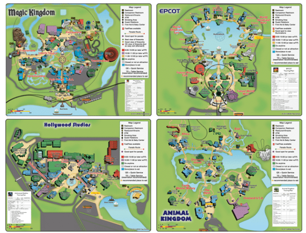 4littlemaps 600x457 - Disney World maps - download for the parks, resorts, parties + more
