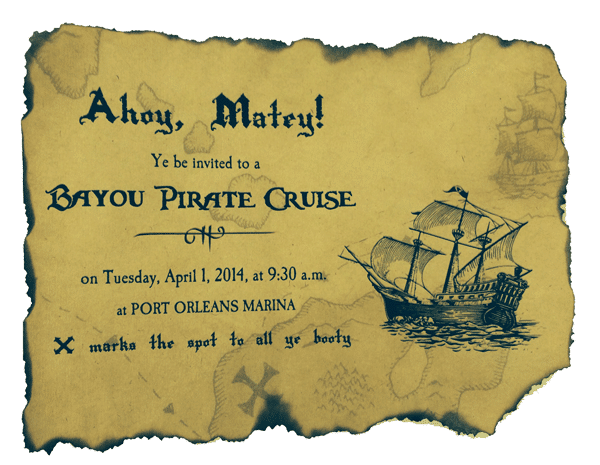 burntpiratepaper - 3 DIY invitations to use during your Disney World trip