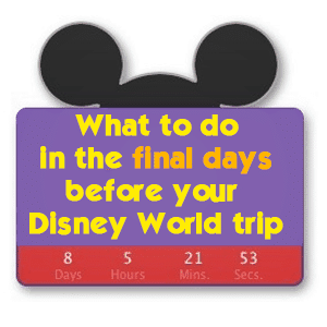 What to do in the final days before your Disney World trip
