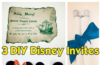 3 DIY Disney invitations