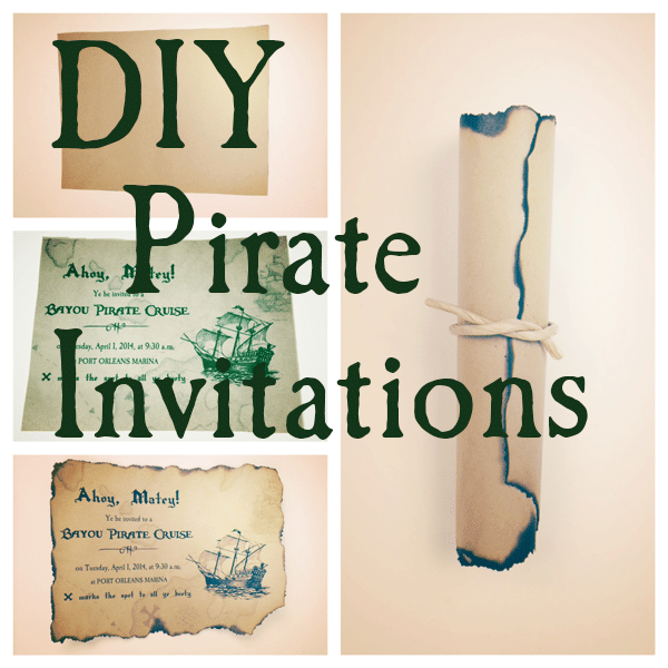DIY Pirate Invitations