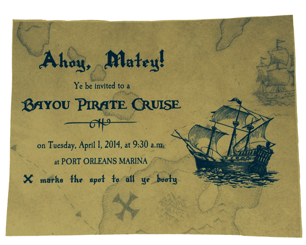 pirateprinted - 3 DIY invitations to use during your Disney World trip