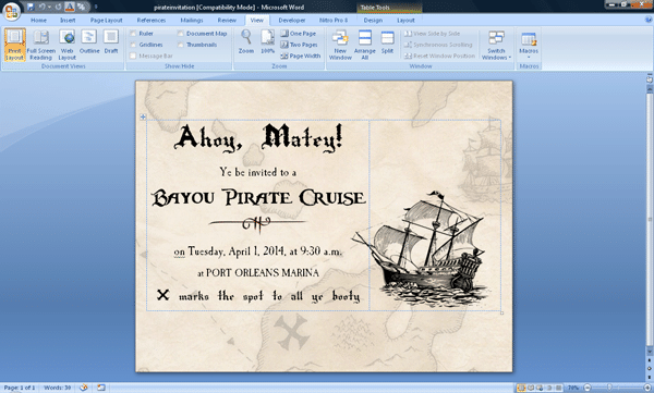 piratescreenshot - 3 DIY invitations to use during your Disney World trip