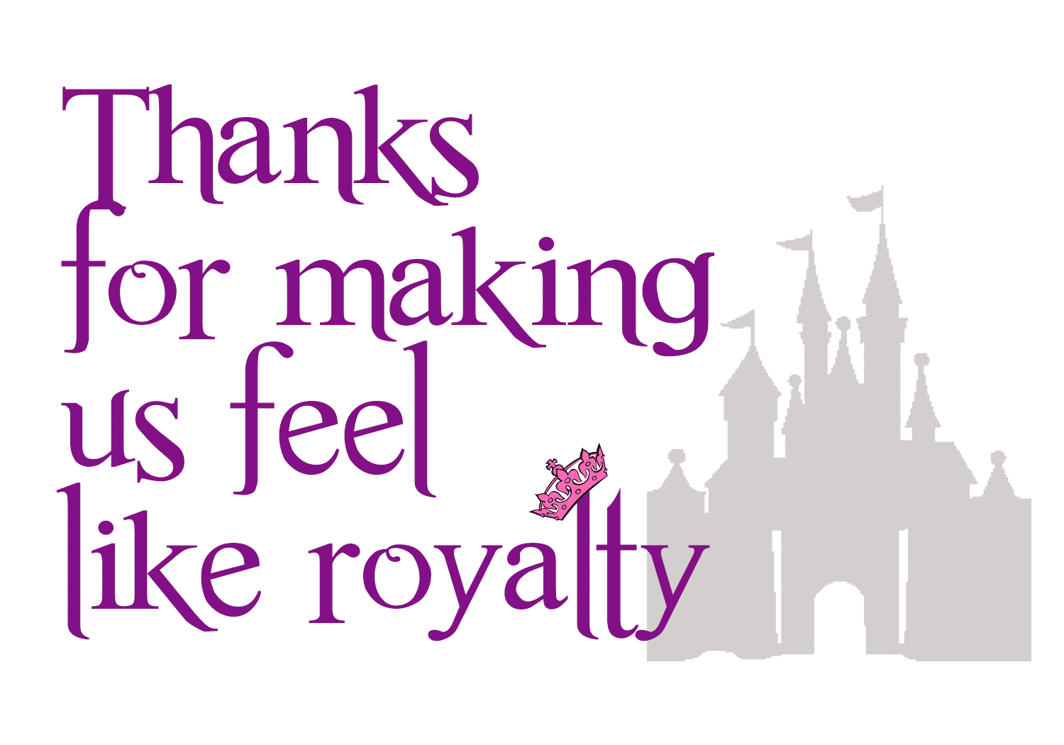 royalty - How to thank Disney World Cast Members