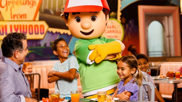 hollywood and vine - Guide to all character meals at Disney World