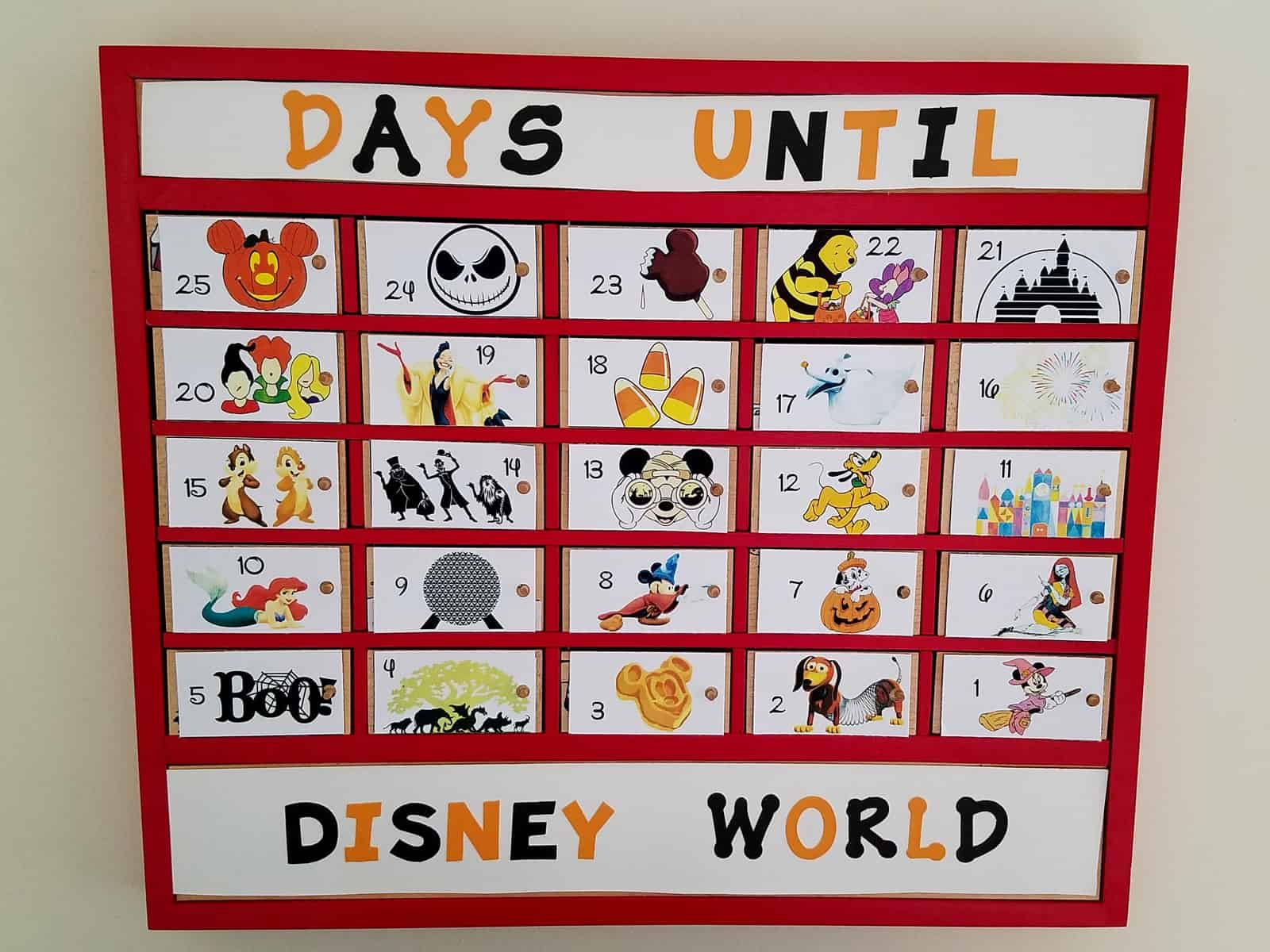 Disney world countdown