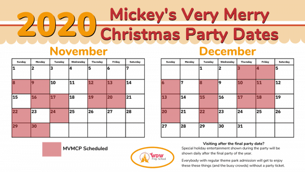 2020 MVMCP Party Dates