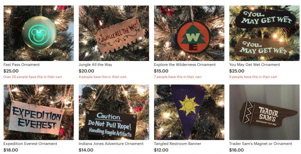 disney themed christmas tree ornaments
