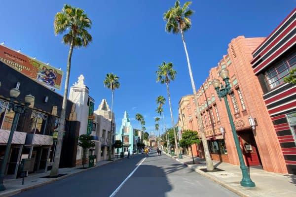 Morning in Hollywood Studios