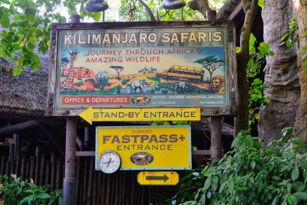 FastPass sign for Kilamanjaro