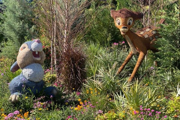 Bambi and Thumper topiary