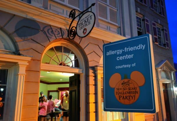 Allergy Friendly treat station at Mickey's Not-So-Scary Halloween Party