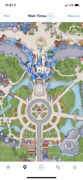My Disney Experience Map