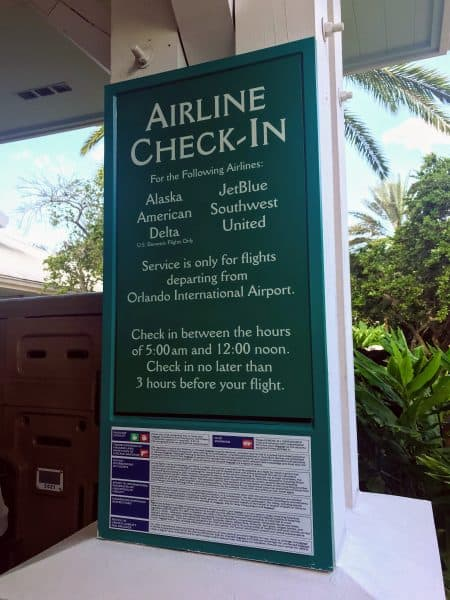 Resort airline check in